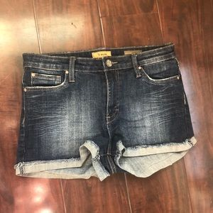 Euc STS blue high waist jean shorts size 11